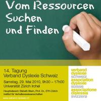 Flyer 14. Tagung Dyslexie Verband Schweiz